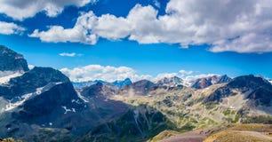 Panorma de la montaña Imagen de archivo libre de regalías