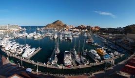 Panorma del puerto deportivo en Cabo San Lucas Baja Mexico fotografía de archivo