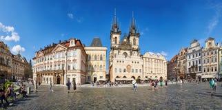 Panorma dello stà del› del mÄ del ¡ del nà dello stské del› di StaromÄ del quadrato di Città Vecchia, Praga Immagini Stock