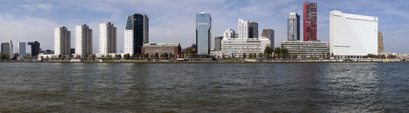 Panorma foto from Rotterdam. Royalty Free Stock Images