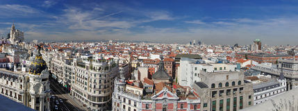 Panorma of Madrid, Spain Stock Image
