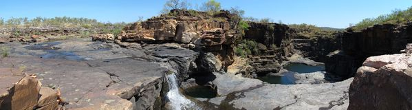 Panorma - Mitchell falls, kimberley, west australia Royalty Free Stock Image