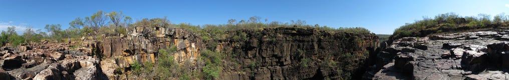 Panorma - Mitchell nedgångar, kimberley, västra Australien arkivbilder