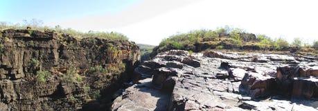 Panorma - Mitchell nedgångar, kimberley, västra Australien Arkivfoto