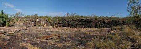 Panorma - Mitchell nedgångar, kimberley, västra Australien Arkivbild