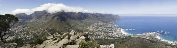 Panorma of Table Mountain Royalty Free Stock Photo
