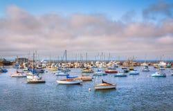 Panormaic sikt av den Monterey fjärden, Kalifornien. Royaltyfri Foto