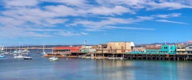 Panormaic sikt av den Monterey fjärden, Kalifornien. Royaltyfri Bild