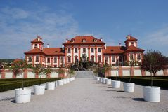 Panormaic view of Troja castle in Prague Royalty Free Stock Photo