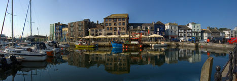 Panormic view of the Barbican Plymouth Royalty Free Stock Image