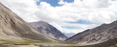 Panormic view of beauty of Ladakh, glacial valley Stock Image