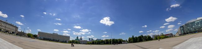 Warsaw Unknown Soldier Tomb Square. Panormic view from capital city of Poland. Warsaw Unknown Soldier Tomb Square stock photos