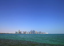 A panormic view of Doha Skyline Stock Photos