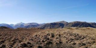 Panorámico de montañas en el distrito del lago Imagen de archivo libre de regalías