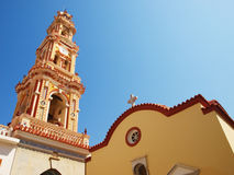 Panormitis monastery bell tower. Royalty Free Stock Photo