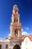 Panormitis Monastery in Symi island.Close up Stock Image