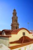 Panormitis Monastery in Symi island.Greece Royalty Free Stock Image