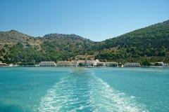 Panormitis monastery, Symi island, Greece Royalty Free Stock Image