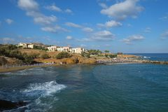 Panormo beach, Crete, Greece royalty free stock images