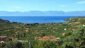 Panormos Village and Bay, Greece Stock Photography