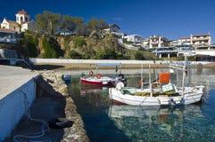 Panormos wioski rybackiej Crete wyspa Grecja obraz stock