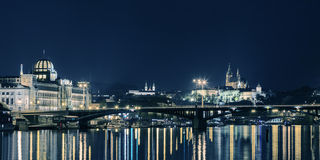 Panoroama azul de Praga Imagen de archivo