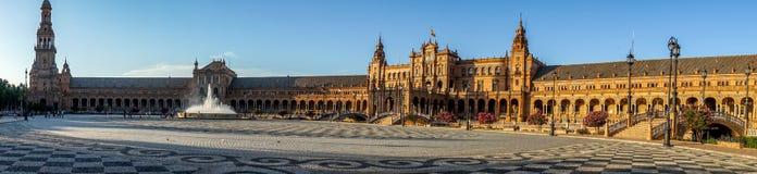 Panoroma de plaza de espana en Séville, Espagne, l'Europe image stock