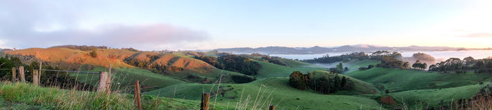 Panoroma rural Warkworth da paisagem, ilha norte, Nova Zelândia NZ Imagens de Stock