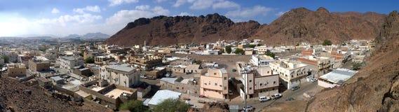 Panoroma sikt av den gamla delen av Medina royaltyfria bilder