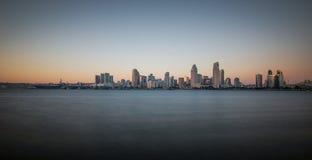 Panoroma van San Diego Skyline Stock Fotografie