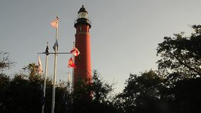 Panoroma view of Ponce Inlet Florida stock footage