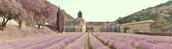Panorsamic abbey di Senanque, monocolor Stock Photography