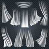 Panos brancos de vibração realísticos em transparente Imagens de Stock Royalty Free