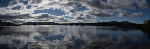 Panovision del lago Windermere Immagine Stock Libera da Diritti