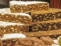 Panpepato-Kuchen Stockbilder