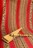 Panpipes and flute from South America Royalty Free Stock Images