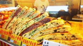 Panqueca chinesa da cebola da mola da variedade fotos de stock