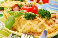 Panqueca com bróculos Foto de Stock Royalty Free