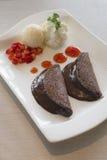Panqueca da lava do chocolate Fotografia de Stock