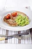 Panqueca de batata com ervilha piegas Imagem de Stock Royalty Free