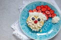 Panqueca de Santa para o café da manhã da criança Fotografia de Stock Royalty Free