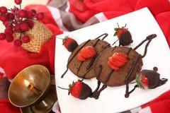 Panqueca do chocolate, appam do chocolate imagem de stock royalty free