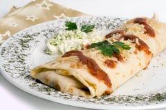 Panqueca/tortilla/burrito Imagem de Stock