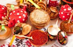 Panqueca tradicional do russo Foto de Stock Royalty Free