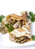 Panquecas com cogumelos Imagem de Stock