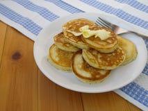 Panquecas com manteiga Imagens de Stock