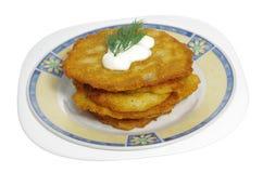 Panquecas de batata Imagem de Stock Royalty Free