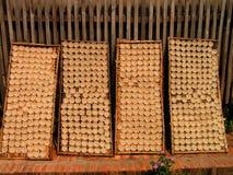 Panquecas de secagem - Laos fotos de stock royalty free