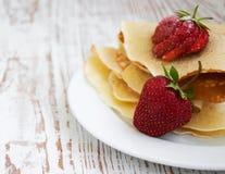 Panquecas de Stawberry Imagens de Stock