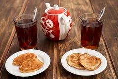 Panquecas do chá Imagem de Stock Royalty Free